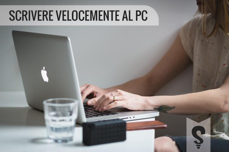 Scrivere velocemente al pc: la corretta posizione delle dita sulla tastiera.